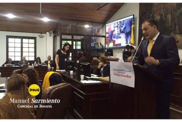 Intervención del concejal Manuel Sarmiento, citante del debate a Transmilenio, Concejo de Bogotá, 28 de marzo de 2016.