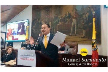 Balance semanal. Con el debate sobre el inicuo modelo Transmilenio, concejal Manuel Sarmiento continuó con la tarea de defender los intereses de la ciudadanía bogotana.