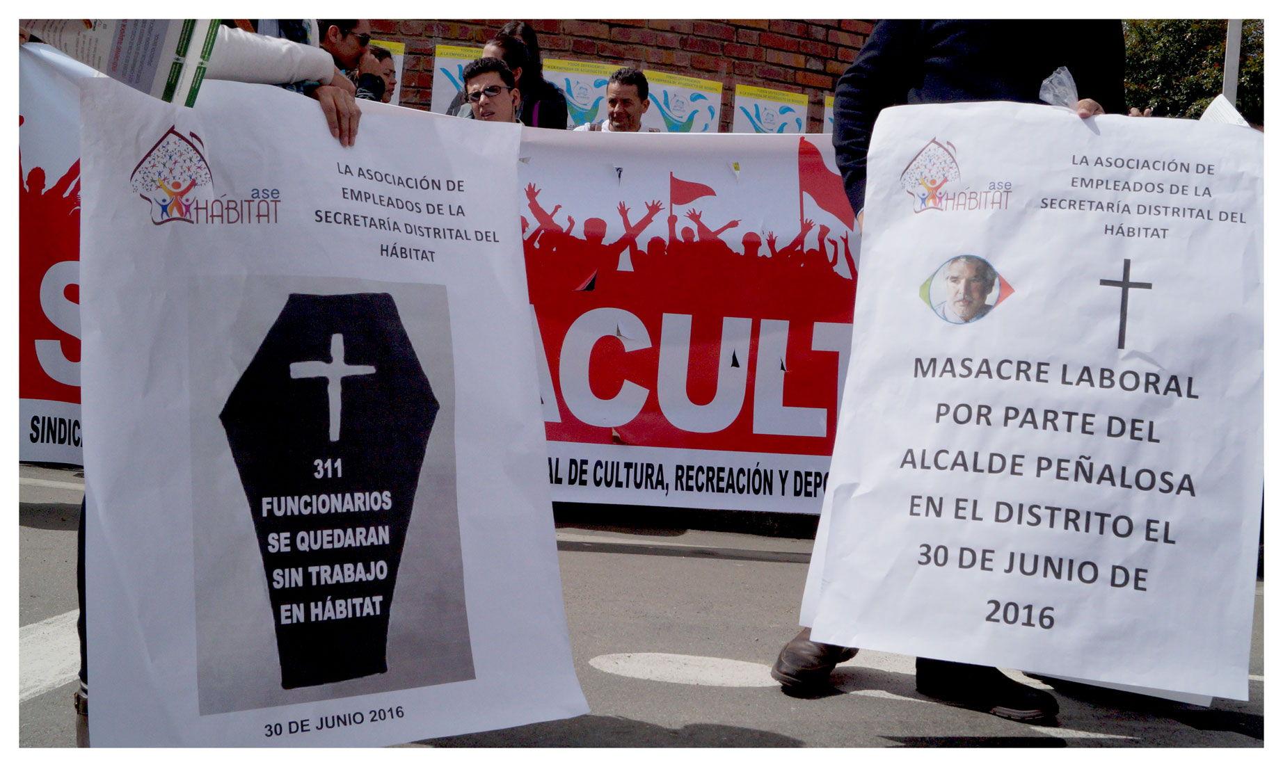 Concejal Manuel Sarmiento respalda justa protesta de los sindicatos del Distrito contra la masacre laboral que prepara Peñalosa