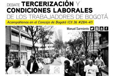 Gobierno de Peñalosa a debate por tercerización y pésimas condiciones laborales en el Distrito.