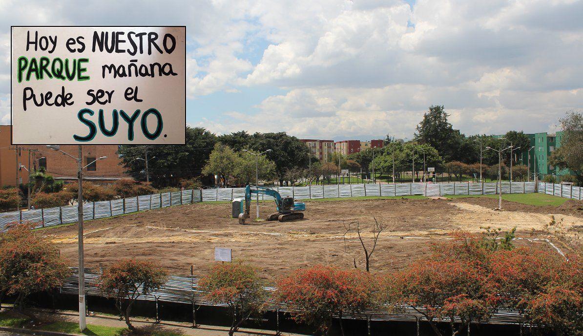 Freno a Peñalosa en la destrucción del parque Cafam.