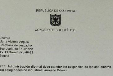 Administración distrital debe atender las exigencias de los estudiantes del colegio técnico industrial Laureano Gómez.