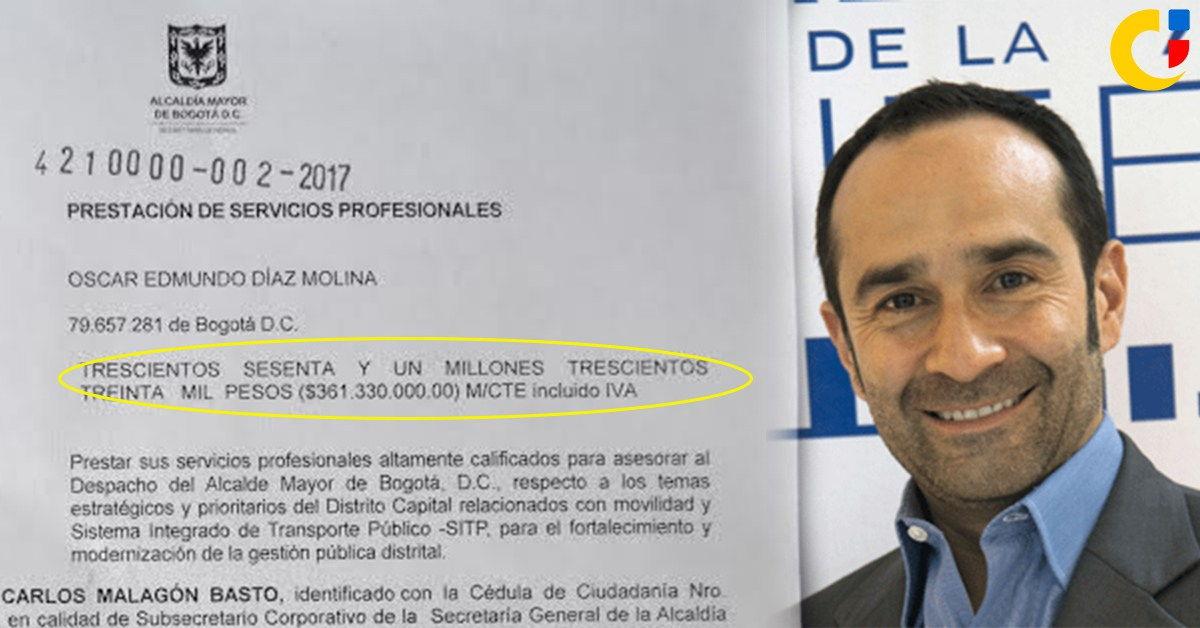 ¿A pesar del fracaso de la asesoría de Oscar Edmundo Díaz, la Alcaldía lo va a contratar nuevamente?