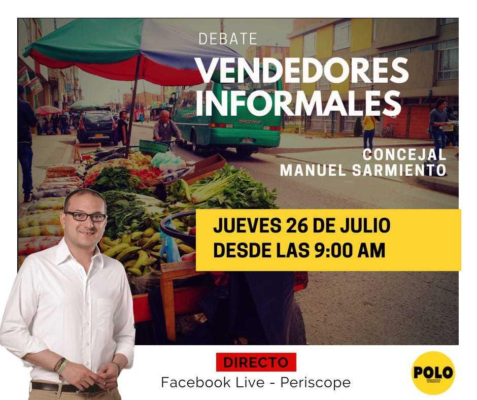 La política de Peñalosa contra los vendedores informales a debate en el Concejo de Bogotá