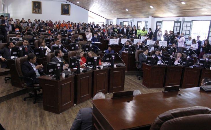 16 concejales de Bogotá solicitaron al presidente Duque avanzar en la busqueda de acuerdos con estudiantes y profesores en paro