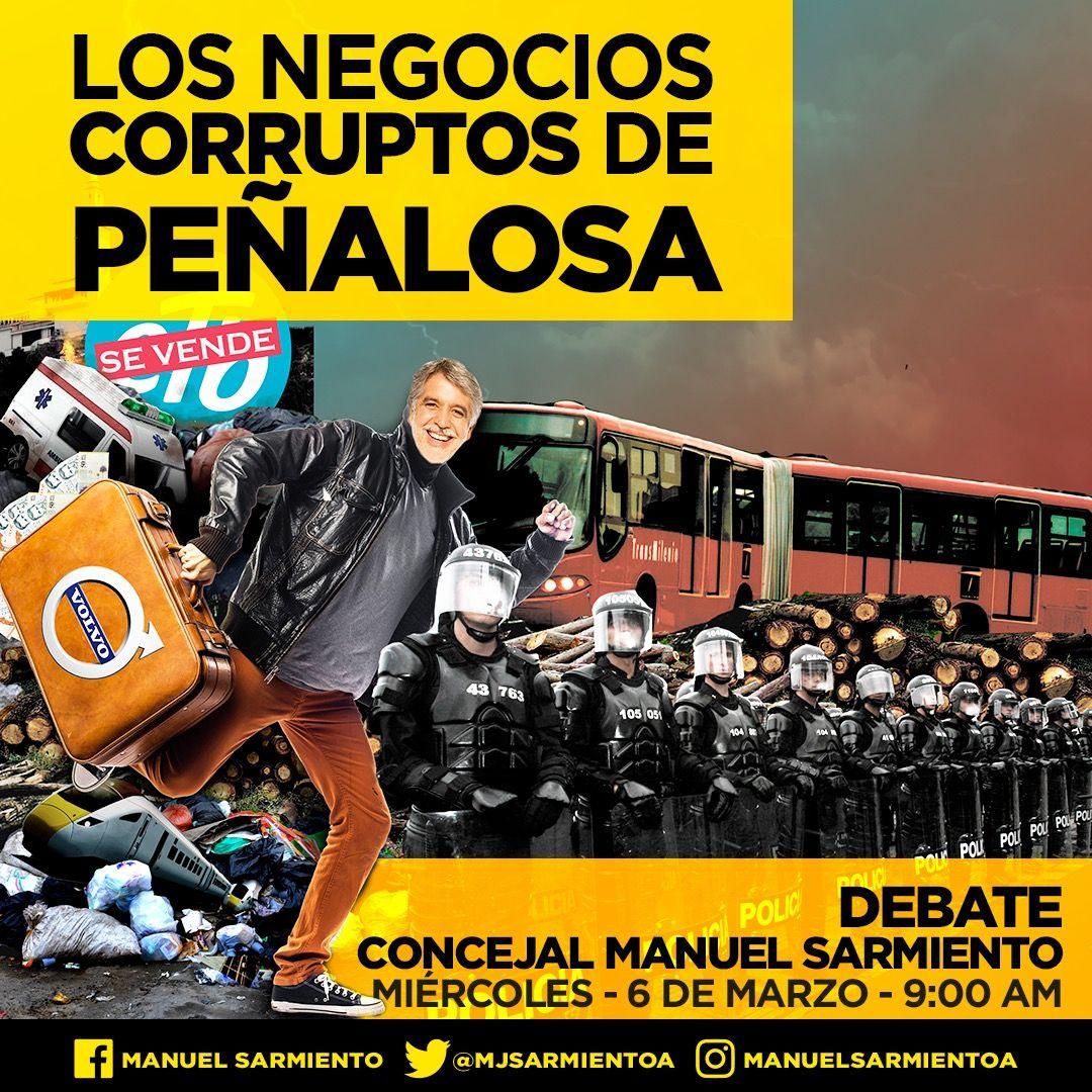 Los negocios corruptos de Peñalosa a debate en el Concejo de Bogotá