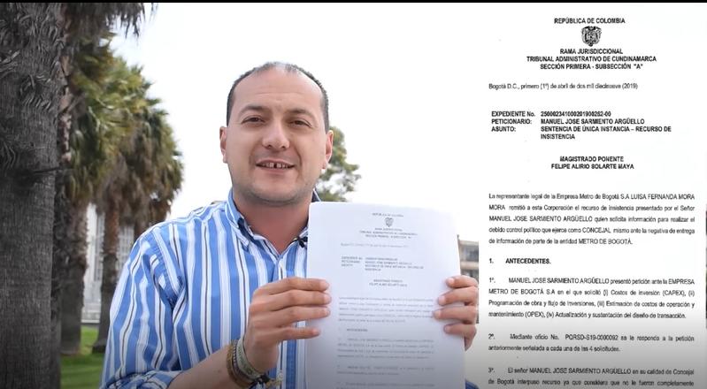 Fallo de un juez obliga a Peñalosa a revelar los costos finales del métrico elevado
