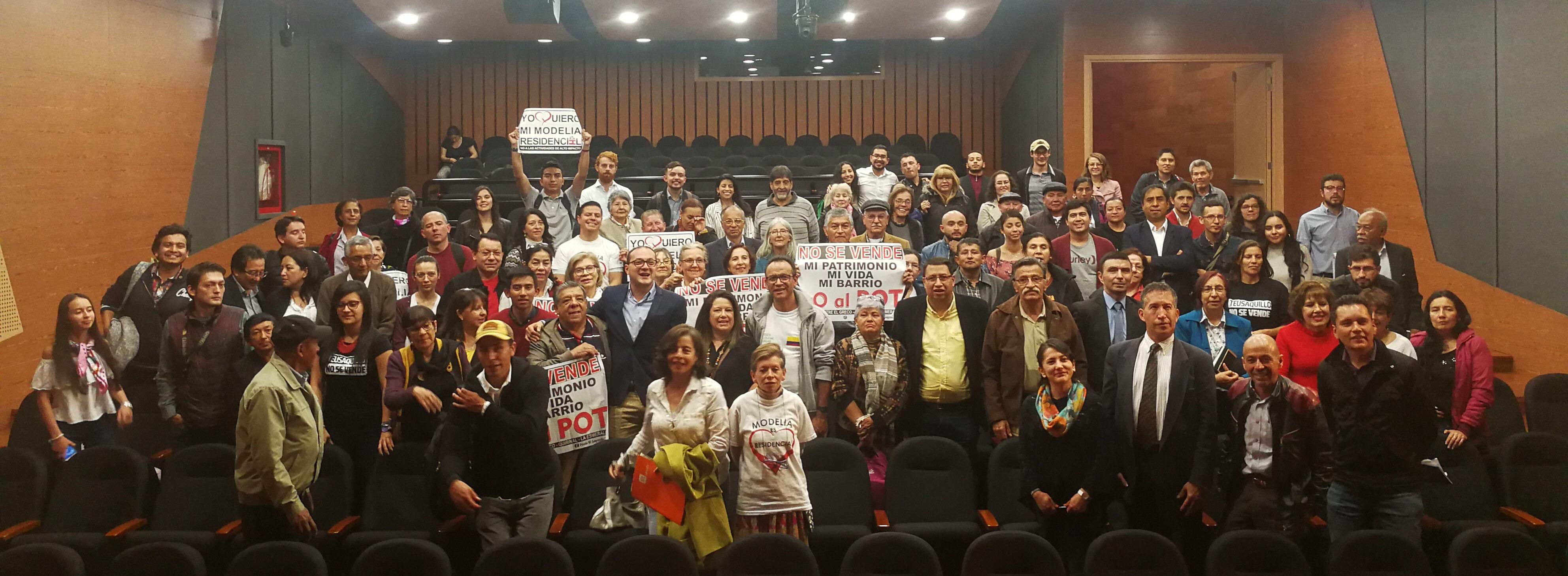 Declaración de la Audiencia Pública Bogotá no se vende: NO AL POT DE PEÑALOSA
