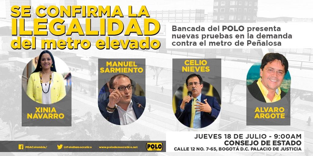 Bancada del POLO revelará nuevas pruebas de la ilegalidad del metro