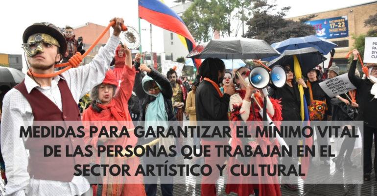Medidas para garantizar el mínimo vital de las personas que trabajan en el sector artístico y cultural